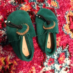 Other - Emerald green baby moccasins